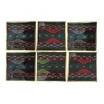 Image of Vintage Aztec Print Coasters - Set of 6