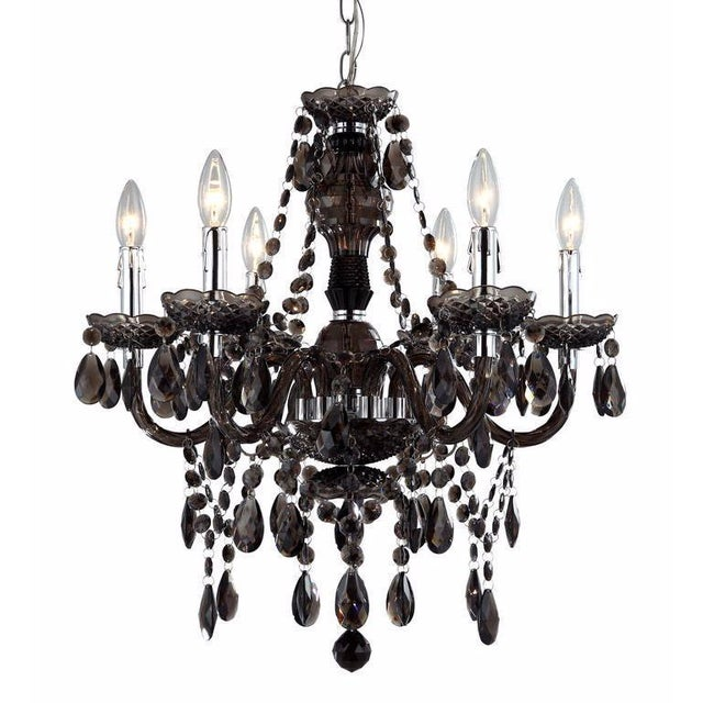 Concerto 6 Light Smokey Topaz Chandelier Chairish