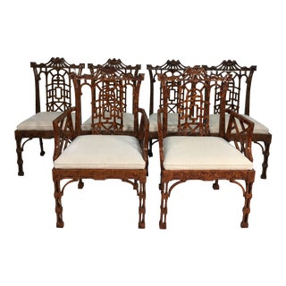 Chinese Chippendale Style Chairs - Set of 6