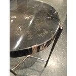 Image of Interlude Home Petrified Wood/Metal Table