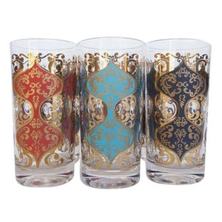 Casino High Ball Cocktail Glasses - Set of 6