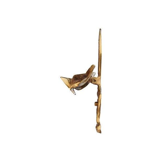 Vintage English Brass Fox Door Knocker - Image 3 of 4