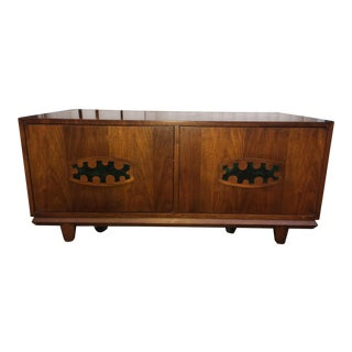 Cal-Mode Inlaid Handle Walnut Cabinet