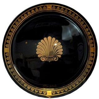 MCM Georges Briard Black & Gold Seashell Tray