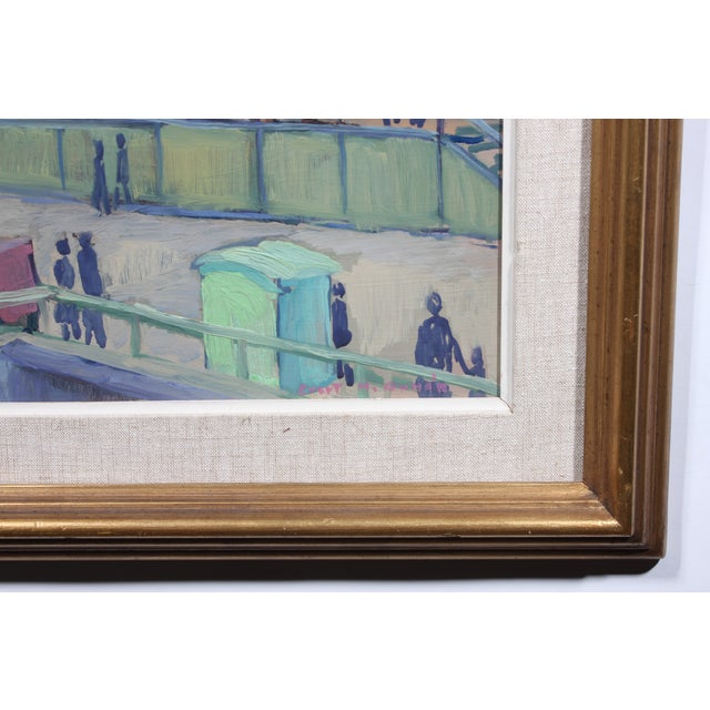 1948 Waterfront Colors Oil Painting - Image 3 of 3
