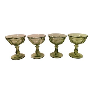 Mid Century Champagne Coupes - Set of 4