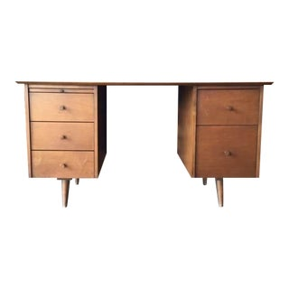 Early Paul McCobb Planner Group Maple Double Pedestal Desk