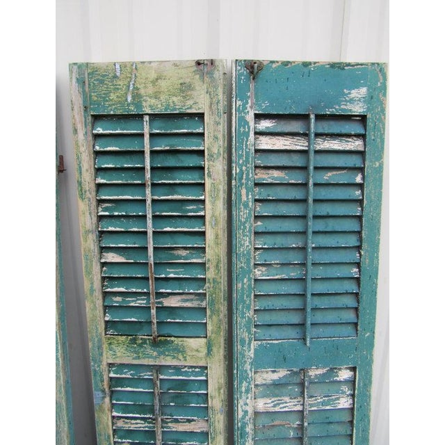 Rustic Cape May Victorian Shutters - A Pair - Image 4 of 5