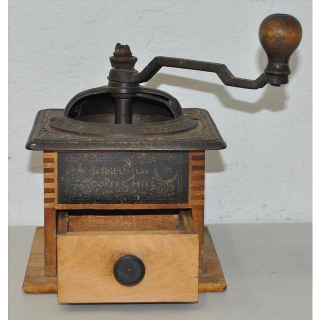 Antique Cast Iron & Wooden Coffee Mill - Image 3 of 5