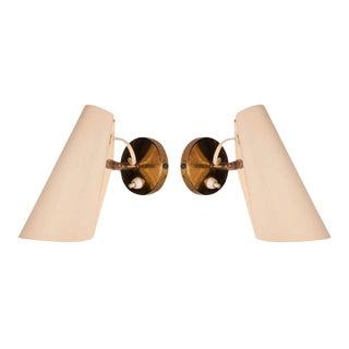 Birger Dahl Adjustable Metal Cone Wall Sconces - a Pair