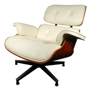Eames Style Leather Lounge Chair