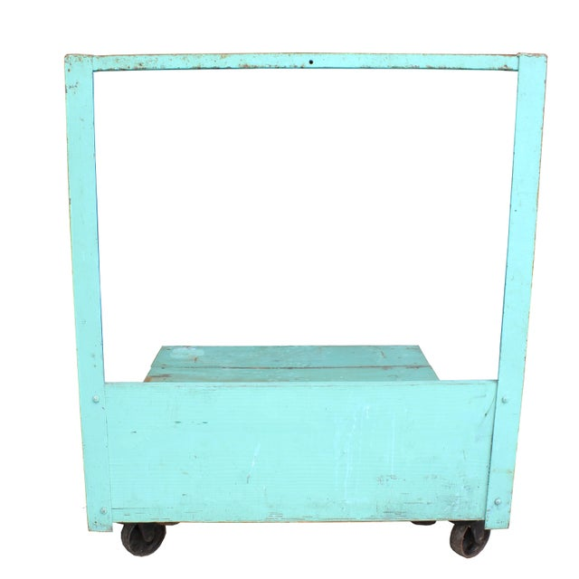 Image of Turquoise Industrial Cart
