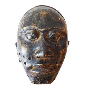African Cameroon Bamum Bronze Head Mask