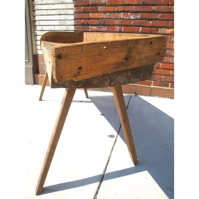 Primitive Wood Butcher Block Table - Image 3 of 5