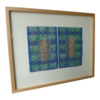 Contemporary Abstract Newspaper Print