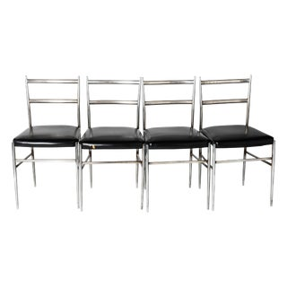 Gio Ponti Style Dining Chairs - Set of 4