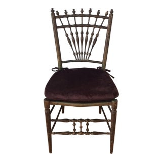 1800s Antique Bobbin Turned Spindle Chair