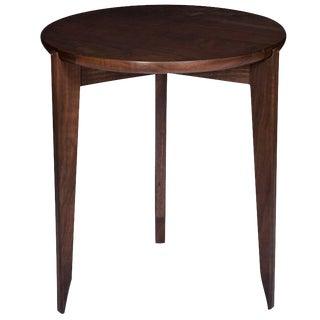 Stillmade Walnut Tripod Side Table with Solid Walnut Top