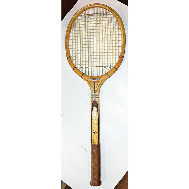 Dunlop Vintage 1960s Wooden Tennis Raquet - Image 2 of 5