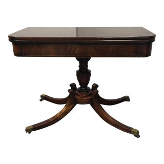 Vintage Mahogany Flip Top Game Table