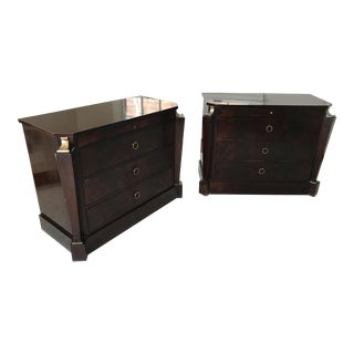 Thomas Pheasant Empire Chest / End Tables - A Pair
