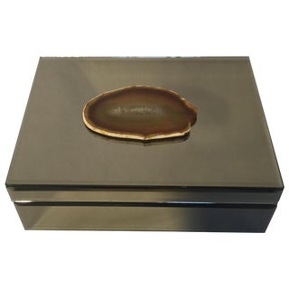 Large Mirrored & Agate Box
