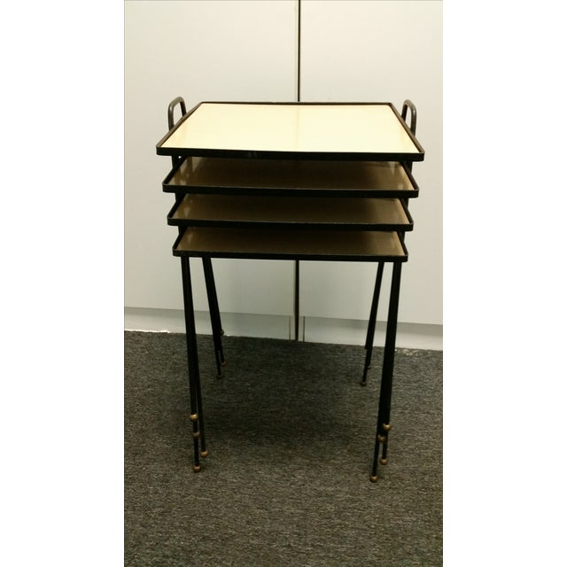 Stacking Tv Tables ~ Mid century stacking tv tables set of chairish