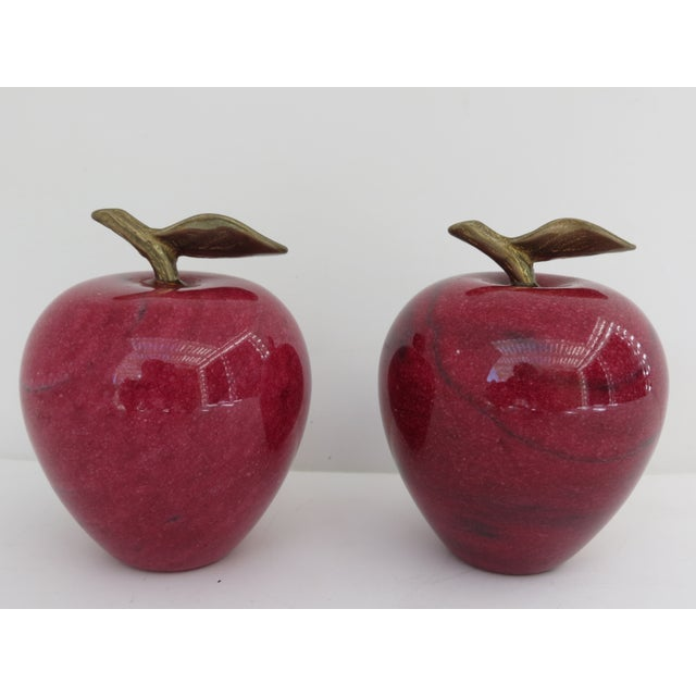 Marble Apple Paperweights- A Pair - Image 3 of 5