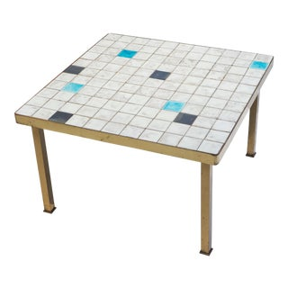 Ceramic Tile-Top Side Table
