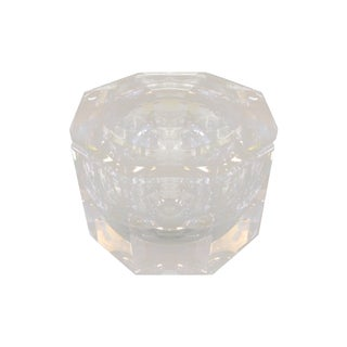 Karl Springer Style Lucite Ice Bucket