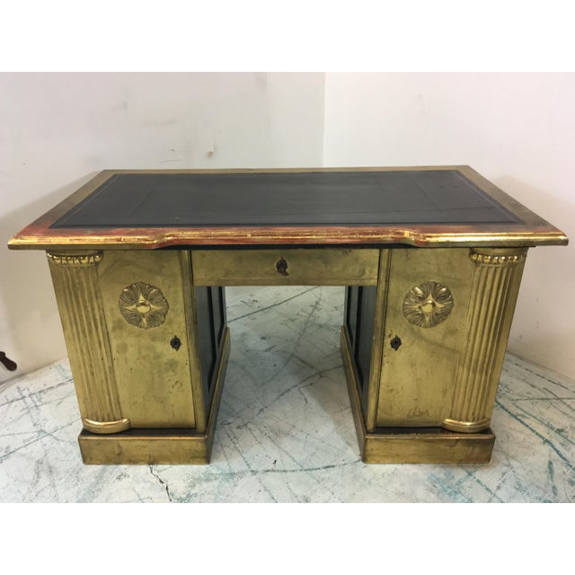 French Neo-Classical Style Gold Leaf Desk - Image 7 of 10