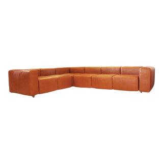 Vintage Harvey Probber Sofa in Cognac Leather
