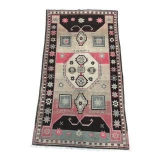 Vintage Turkish Rug - 4′5″ × 8′1″