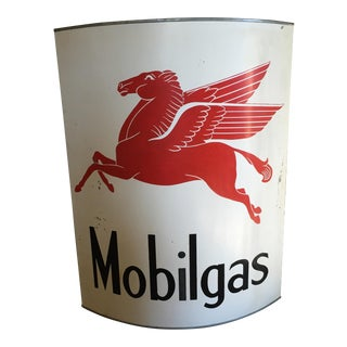 Up-Cycled Hand-Forged Finished Mobil Gas Sign