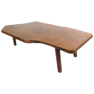 Vintage Rustic Live Edge Coffee Table