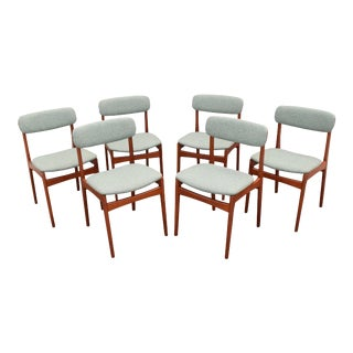 Vintage Danish Mid-Century Modern Teak Dining Chairs - Set of 6