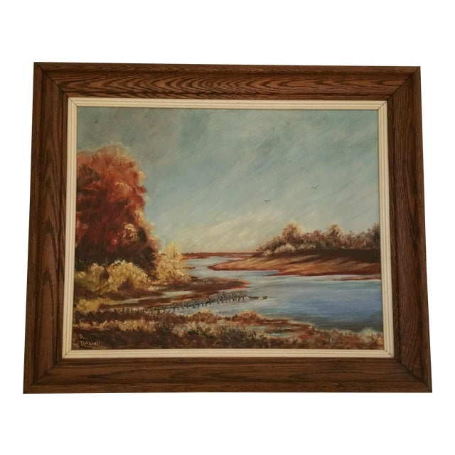 Mid-Century Lake Champlain Landscape Oil Painting - Image 1 of 5