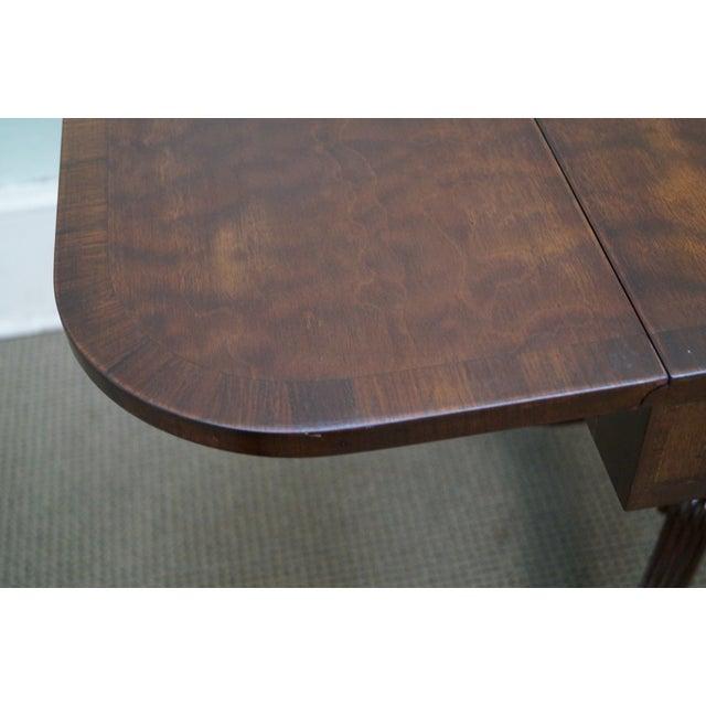 Custom English Regency Style Drop Leaf Side Table - Image 10 of 10