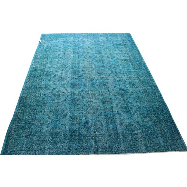 Turquoise Overdyed Rug - 6'7'' x 10' - Image 1 of 7