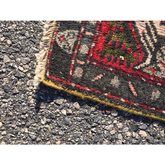 "Vintage Red Anatolian Persian Rug - 1'9"" x 3'3"" - Image 7 of 8"