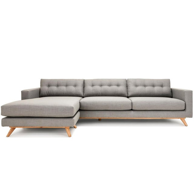 Clad Home Mid-Century Style Grey Sectional - Image 2 of 5