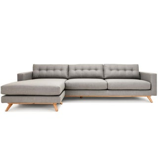 Mid-Century Style Grey Sectional