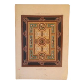 Traditional Rare German Decorative Print From Deutsches Maler Journal #7