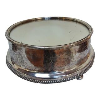19th C English Silver Plate Mirror Topped Plateau