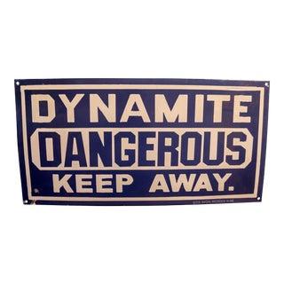 Vintage Porcelain Dynamite Sign