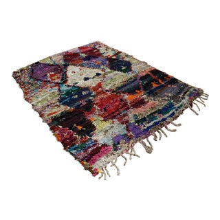Moroccan Hand Knotted Rug- 4′9″ × 6′3″
