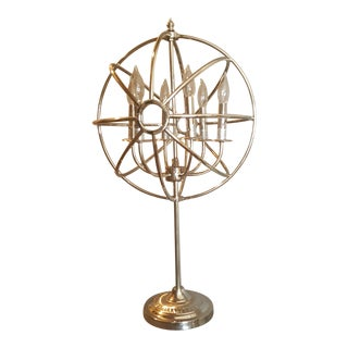 Restoration Hardware Foucault's Iron Orb Table Lamp in Polished Nickel Retails for $1295