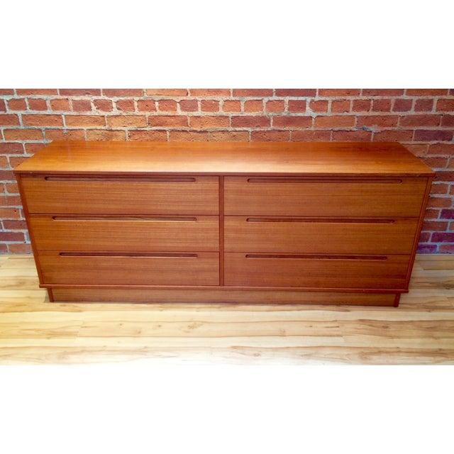 Danish Modern Teak Six-Drawer Dresser - Image 2 of 7