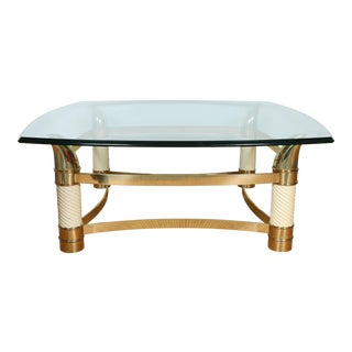 Italian Brass Coffee Table
