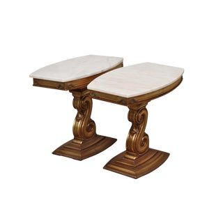 Portuguese Hollywood Regency Style Side Tables - A Pair